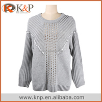 5079 Grey Pullover sweater designs for ladies