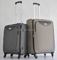soft luggage/jacquard fabric trolley case/ 4 spinner wheels upright/ carry-on with expander 20'/24'/28'