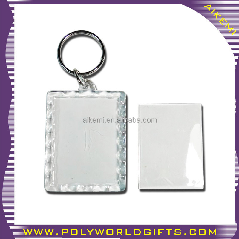 business itmes photo paper insert keychain promotional gifts p o frame key finder custom keychain decoration plastic