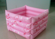 Factory Supply Pink PVC inflatable products Home Furnishing footbath