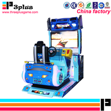Dynamic kiddie ride video arcade 3D car racing simulation game machine