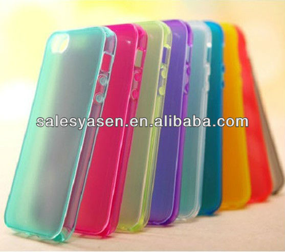 Unlta-slim transparent soft custom tpu case for iphone 5