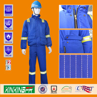 cotton polyester flame retardant antisatic overalls for industry clothing