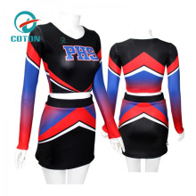 Hign quality OEM Custom brand lady cheerleading crop top and skirt