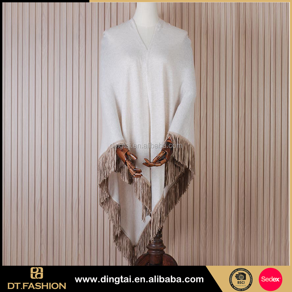 Customized cheap and comfortable manton de manila wool shawl