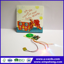 Light Up de Tarjetas de Felicitación de Cumpleaños Con Luces Intermitentes LED