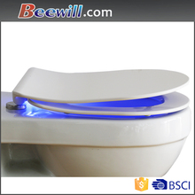 Sanitary LED night light soft close modern slim wc toilet cover