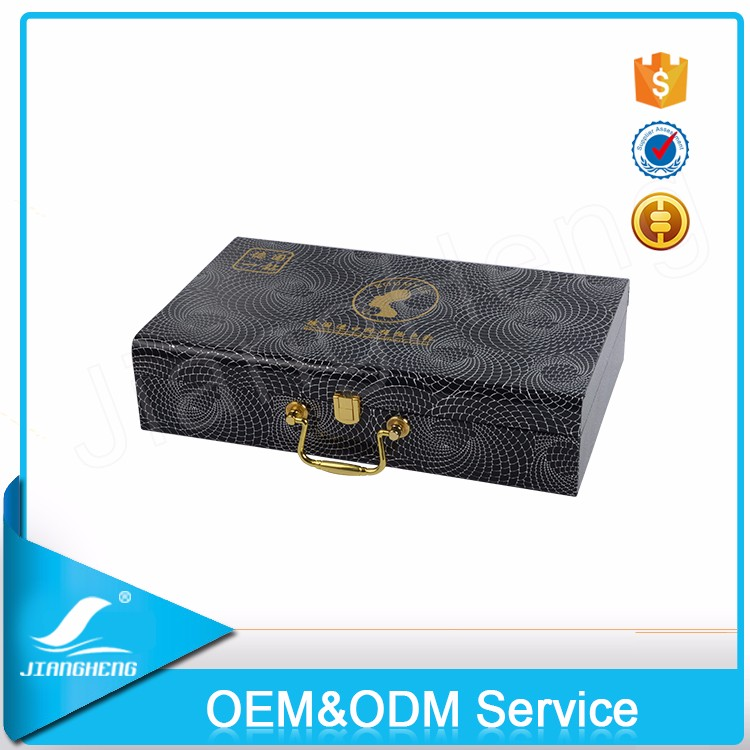 Guangzhou custom Luxury wooden perfume packaging box
