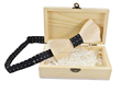 Hot Fashion Men wooden box for wedding bow tie Accessory For Men Butterfly Neck Ties