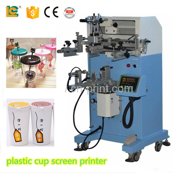 alibaba express 2016 pneumatic cylinder two color Paper Cup glass bottle Screen <strong>printers</strong> for sale