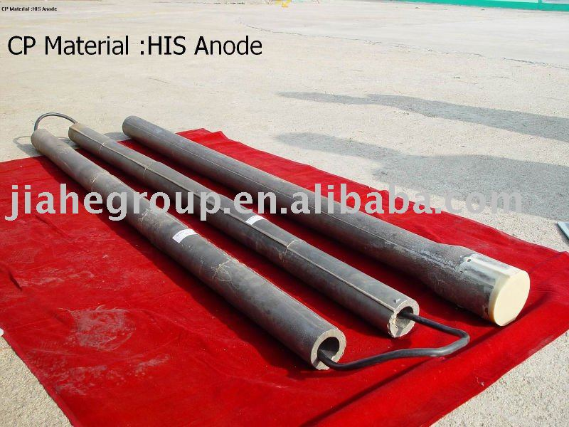 High silicon iron anode for impressed current cathodic protection