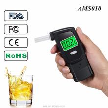 Professional New Designed Digital Display Alcohol Breath Tester with 5 Mouthpieces -Black