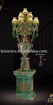 NEW ITEM- Luxury european antique bronze& green colour floor lamp, made of copper and marble,MOQ:1PC(B25074)
