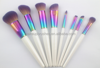 8pcs Beauty Needs Brushes Make Up,Synthetic Hair Brushes Make Up Sets,Professional Wooden Handle Brushes Make Up
