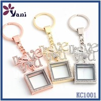 custom oem design unqiue metal name keychain wholesale engraved LOVE styles locket pendants crystal keychain
