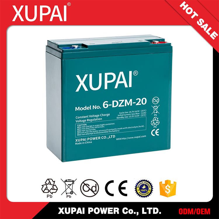 6-DZM-20 12V 20AH 48V 20AH Batteries with Negative Plate- Balanced Pb-Ca Grid for Improved Recombination Efficiency