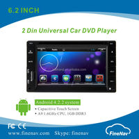 "6.2"" HD Universal Car Audio and Radio Syster Android 4.2.2 with Gps Navi,3G,Wifi,Bluetooth,Ipod Support Rear View Camera,DVR"
