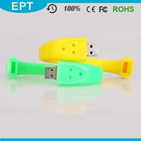 Cool Test Wristband Shape Silicone Colorful Girl USB Flash Drive For Gift