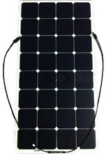 Semi flexible solar panel manufacturers long-time warranty 100w mono sunpower solar module