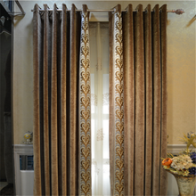 high quality velvet blackout fabric living room set window curtains