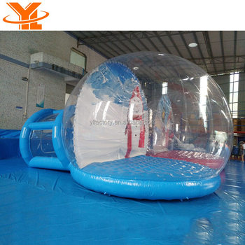 Promotion Christmas Inflatable Snow Globe For Sale, Giant PVC Bubble Room For Christmas Inflatables