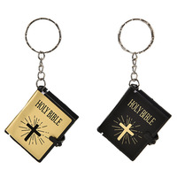 New Mini Bible Keychain English HOLY BIBLE Religious Christian Jesus Keychain