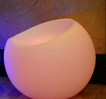 PE materical apple chair LED furniture