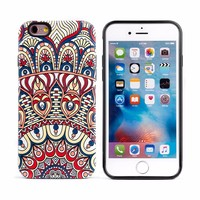 Bulk Wholesale Hybrid 3D Pattern Protective Hard Cover Case For iPhone 6 6s