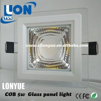led panel light 5w 10w 15w COB led glass panel light Square ceiling panel light