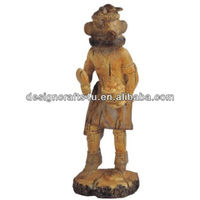 Native American Indian With Mask Figurine
