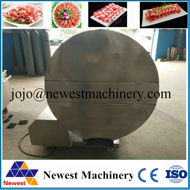 Automatic frozen meat slicer/meat pie cutter/Meat planing machine