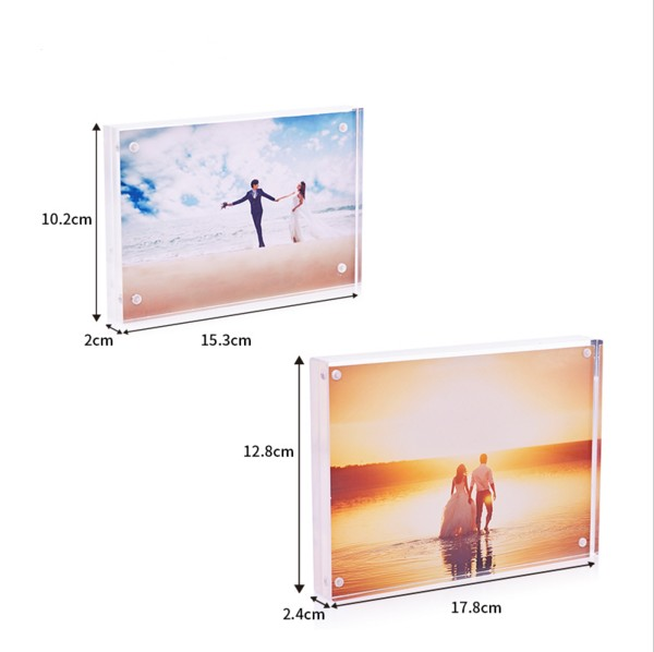 4x6'' Customized acrylic magnetic photo frame acrylic picture frame