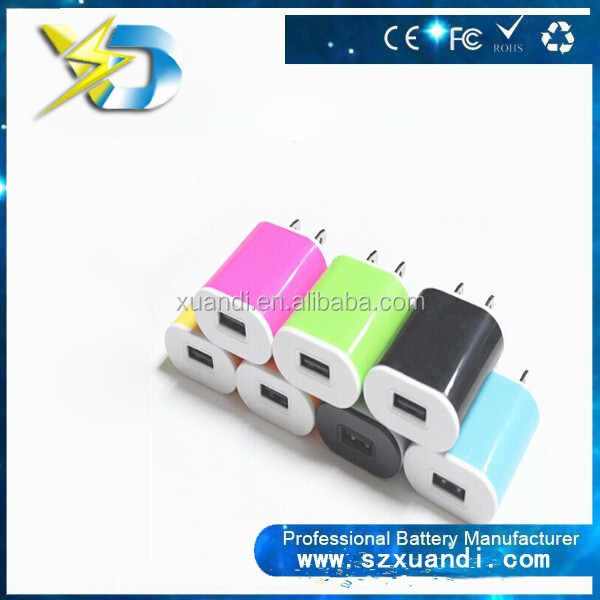 China manufacturer 5V 1.0A mobile phones usb wall charger accessories