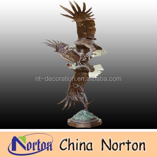 Decorative two eagles Bronze animal statues NTBH-D066