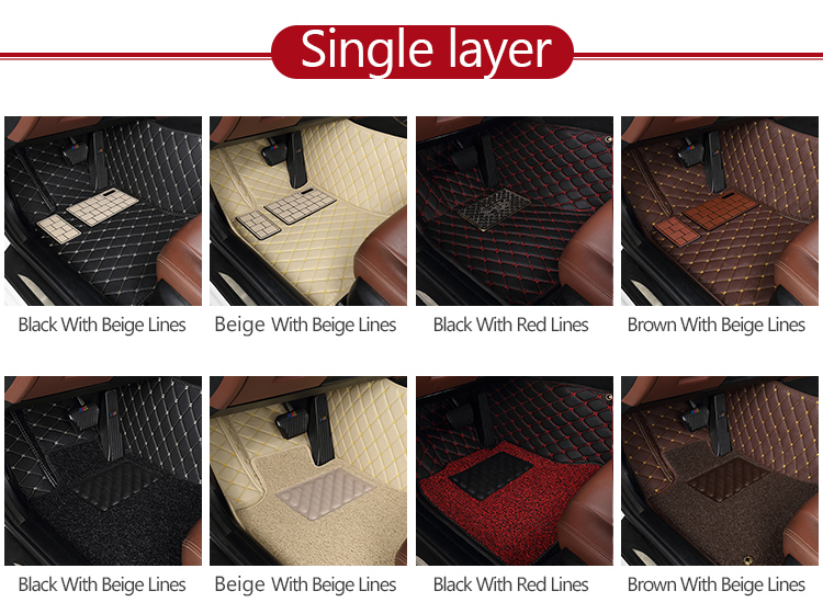 Hot sale custom cleaning 3d 5d soft leather car mat