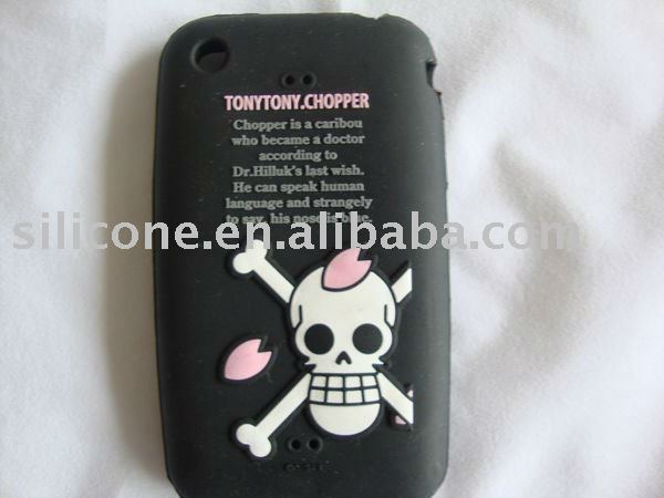 Silicone Case Skin with Halloween themes for iphone 4