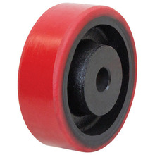 OEM Custom Precision Wear resistant Solid PU Rubber Covered Wheels