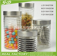800-2000ml glass storage jar with metal cap