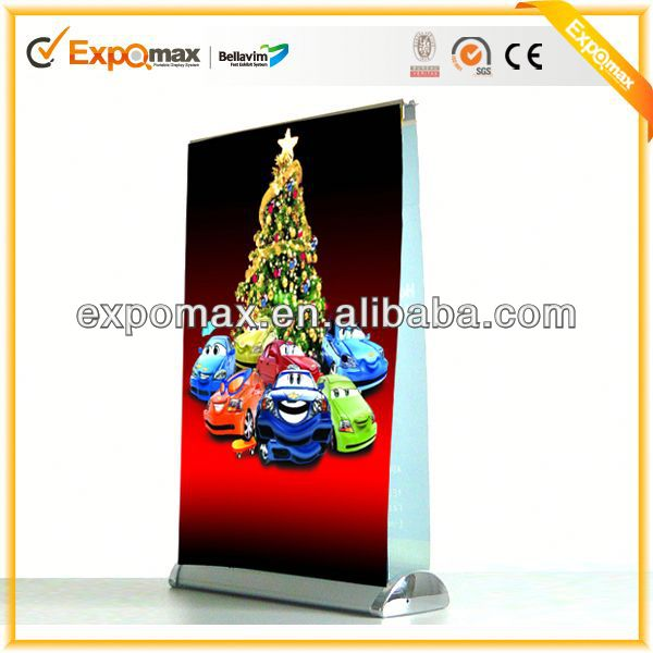 Economic X retractable Flex Spider Telescopic mini desktop display stand custom roll up banner stands