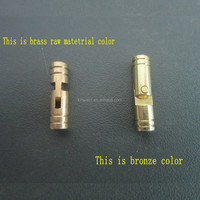 Factory High quality solid brass small cylindrical concealed hinge for wooden box