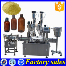 PLC controlled powder dosing machine,pharmaceutical powder vial filling machine