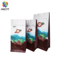 Wholesale 250g 500g 1kg Aluminum Foil Flat Bottom Plastic Coffee Packaging Bag with Zipper