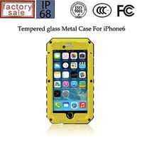 Metal Aluminum Gorilla Glass waterproof case for iphone 6 ,for iphone 6 case