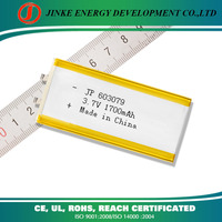 Lithium Polymer 1700mah high capacity long time working and deepcycle psp 5v 1.2a battery