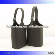 China wine carrier leather bag, wine carrier