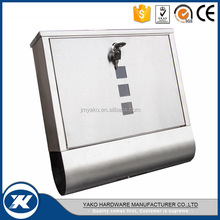 stainless steel 304 or 430 wall mounted residential waterproof mailbox