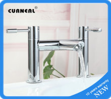 Chrome Plating Taps for Bathroom, Two Handles Shower Faucet