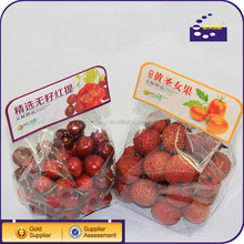 Folding storage clear plastic packaging for fruits
