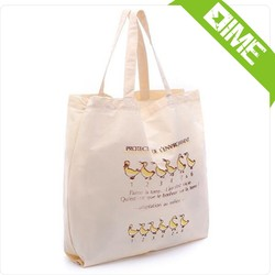 Trendy Fashion Natural Color Cotton Canvas Tote Bag