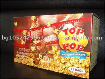 "Microwave Popcorn ""Top of the Pop"" - Choco and caramel-display box (15 pcs)"